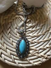 Markenlose Modeschmuck-Halsketten mit Türkis-Hauptstein für Damen