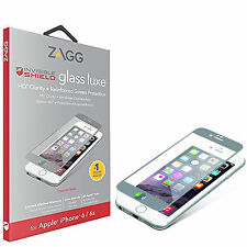 Genuine Zagg Full Front HD Glass Titanium Luxe Screen Protector For iPhone 6 6S