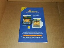 Ronco Showtime Rotisserie 2500/3000 PART - Instructions and Recipes Blue Booklet