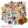 100pcs Anime Dragon Ball Stickers Super Saiyan Goku Laptop Skateboard Decal gift