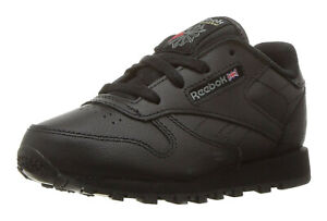 Reebok Classic Leather Black Toddler Kids Sneakers Tennis Shoes 92757