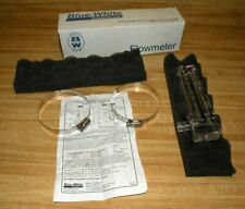 "New listing Blue White U-30200P 2"" Pvc Flowmeter 40 to 150 Gpm w/ Clamps U-30200P New Oem"