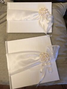 Boxed Wedding Photo Album and Guest Book Bundle Handmade Looking East New Sealed