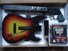 PS3 Guitar Hero 5 Guitarra inalámbrica, Dongle, Game & Amp cartel PS3!! rara!!!