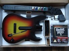 PS3 Guitar Hero 5 wireless per chitarra, Dongle, GIOCO & Amp POSTER PS3 RARO!!!