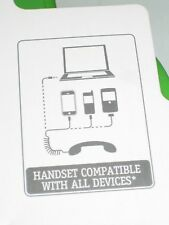 Retro Phone Handset for Mobile Phone, PC or Hand Held Device - Anti-radiation