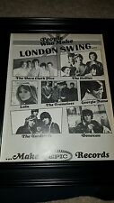 Yardbirds, Hollies, Dave Clark 5 Rare Epic Records Promo Poster Ad Framed!