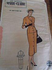 """ANCIEN PATRON  MARIE CLAIRE   """"JUPE ET VESTE COL TAILLEUR  """" ANNEE  1950"""