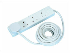 Masterplug 4 Socket 5 Metre Extension Lead - White