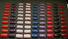 """100 Long Good Quality Full Cover Coloured False Nails from """"PINK CANDY"""""""
