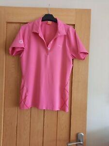 Ladies short sleeved golf polo shirt