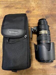 Nikon Zoom NIKKOR 70-200mm f/2.8G AF-S VR ED G Lens With Hood And UV Filter