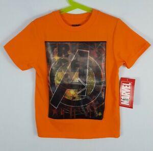Boys Marvel Avengers Lenticular Halloween Graphic T-Shirt Orange XS, M, L, XL