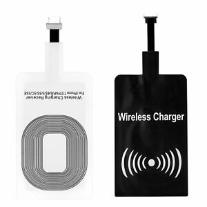 QI USB Wireless Adapter Fast Charger Receiver For iPhone 5 5S 6 6S 7 Plus
