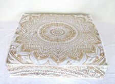 "Indian Mandala Floor Pillow Meditation Cushion Cover Dog Bed Square 35"" Ombre"