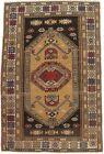 Farmhouse Decor Rug Semi Antique 4X6 Tribal Geometric Handmade Oriental Carpet