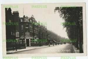 OLD POSTCARD KINGS ROAD FULHAM LONDON JOHNS REAL PHOTO VINTAGE C.1910