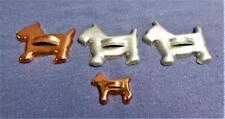 4 Vintage Scotty Dog Cookie Cutters Aluminum & Copper Tone Scottish Terrier