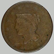 1840 1C N-? Braided Hair Cent, See Description, ODD looks like 1848