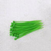 100pcs 3x100mm Nylon Cable Tie-Wrap Green Zip Ties Wrap Fasten Wire Self-Locking