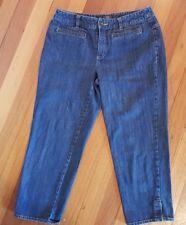 Sportscraft Women's Capri Jeans SZ 9 Stretch Stone Wash Style 106749