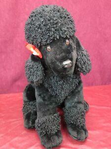 "Dan Dee Collector's Choice Large 20"" Black Poodle Plush Puppy Dog RARE"