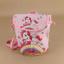 Pastel Pink Kids Toddlers Unicorn Backpack Small Girls Diamontes Rainbow Cute