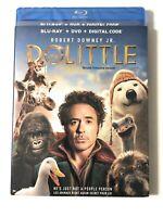 DOOLITTLE BLU-RAY + DVD + DIGITAL W/SLIPCOVER ROBERT DOWNEY JR. NEW SEALED