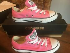 Kids Junior Converse All Star Chuck Taylor Canvas Trainers Pink UK Sz 13.5 NEW