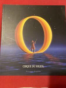 CIRQUE DU SOLEIL musical souvenir program theater O water circus Bellagio