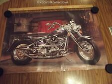 "1991 Harley Davidson Motorcycle Poster 1990 Fat Bob Off Licensed 36"" x 24"" inch"