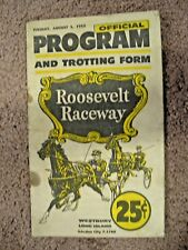 1952 official Program and Trotting form Roosevelt Raceway horse racing