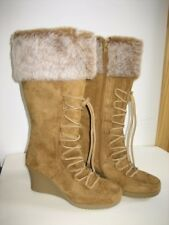 Brand New Rampage Winter Brown Suede Mid-cut Boots  ~ Size 38 ~ US Size 8M