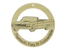 1969 Plymouth Fury III Convertible Hardwood Ornament Sanded Finish LaserEngraved
