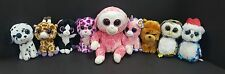Lot of 9 Ty Beanie Boos Safari Fetch Glamour Pepper Barley Magic Owliver Icicles