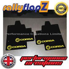 rallyflapz passend für Opel Corsa C (00-07) Schmutzfänger schwarz Logo gelb 4mm