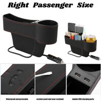 Car Seat Gap Organizer Pocket Storage Box  Dual USB Charger Cup Holder Universal
