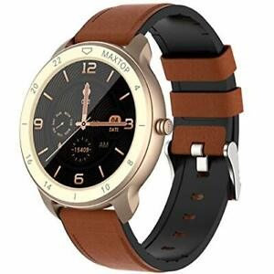 Smart Watch for Android Phones Compatible with iPhone Samsung, Gold