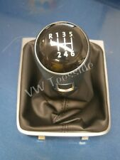 Genuine VW Passat 2005 onwards B6 B7 3A CC 6 Speed Black Gear Knob & Gaiter