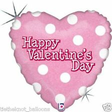 """18"""" FOIL BALLOON HAPPY  VALENTINES DAY PINK HOLOGRAPHIC - WHOLESALE"""