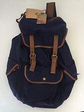 Hynes Eagle MULTI POCKET Canvas Rucksack Backpack 25 Liter (Blue) school bag