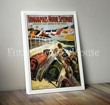 Vintage car poster racing motorsport - A4 - Indianapolis Motor Speedway 1914