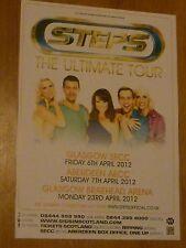 Steps - Glasgow/Aberdeen april 2012 tour concert gig poster