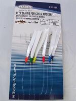 6 Packs Daylight 6 Hook Size 3/0 Fishing Mackerel Feathers Lures Sea Pollack Cod