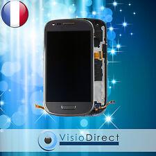 Ecran vitre complet sur chassis pour Samsung galaxy S3 mini i8190 noir gris