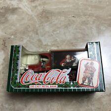 Vintage ERTL COCA-COLA 1993 DIE-CAST METAL CHRISTMAS SANTA TRUCK BANK New