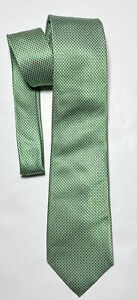 CHARLES TYRWHITT GREEN TIE 100% SILK HOUNDSTOOTH 60''/3'' EXCELLENT CONDITION
