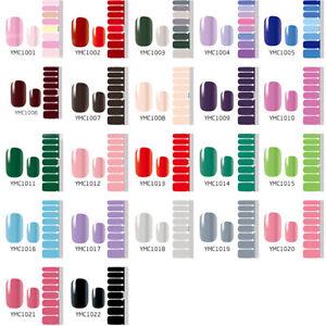 Full Cover Nail Polish Wraps Self-adhesive Nail Stickers Nail Art Decoration AU