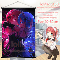 Anime Wall Scroll Poster Re Zero kara Hajimeru Isekai Rem Ram Emilia Home Decor