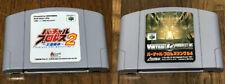 Nintendo 64 Virtual Pro Wrestling 1 & 2 Cartridge 2 set Game Japan